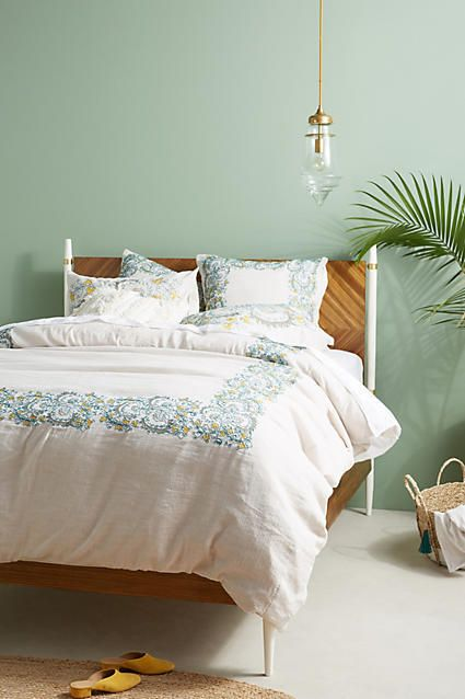 embroidered layton duvet cover for the fall bedroom ad