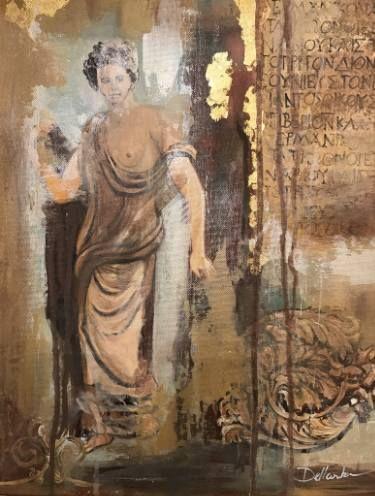 "Saatchi Art Artist Aria Dellcorta; Painting, ""Nepenthe"" #art #abstract #saatchiart #new #rendered #jewels #series #fineart #painting #artforsale #academicart #originalart @ariadellcorta"