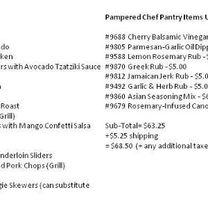 Dinners Done with Pampered Chef Freezer Meal Workshops