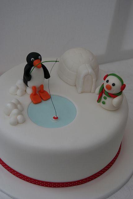 Pingu Christmas Cake | Flickr - Photo Sharing!