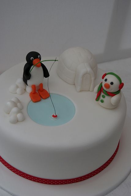 Pingu Christmas Cake by Cakes by Occasion, via Flickr