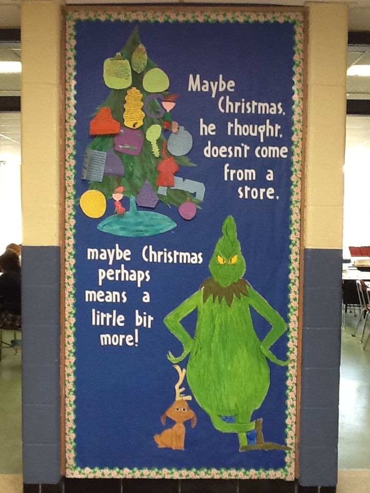 192 best the grinch images on pinterest christmas for Pretty bulletin board