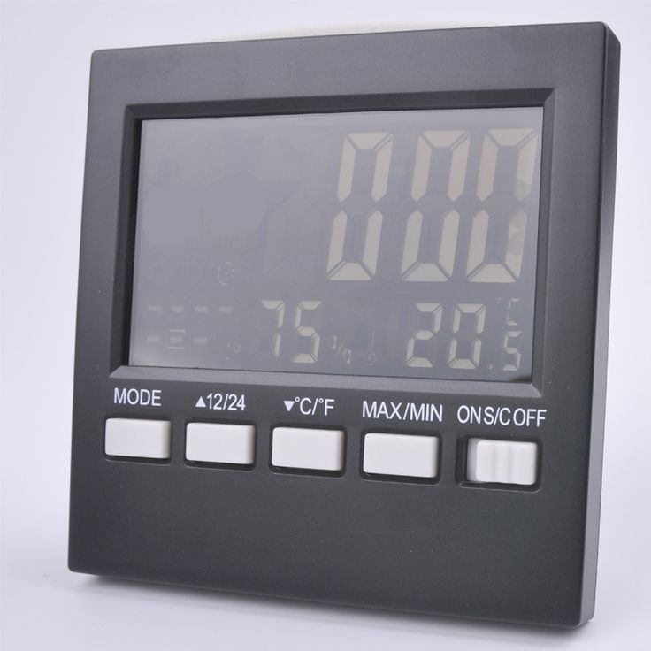 Free shipping, multi-function electronic temperature and humidity, LCD screen temperature and humidity