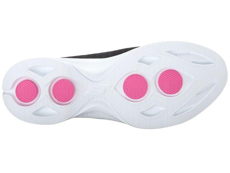 SKECHERS Performance Go Walk 4 - Pursuit Women's Slip on Shoes Black/White