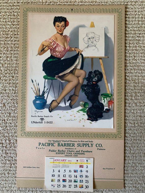 vintage Pin Up Calendar 1954 Gil Elvgren