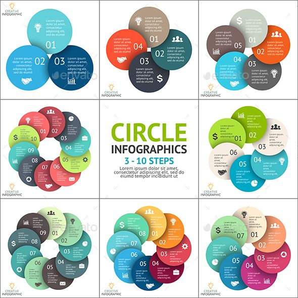 Circle Infographic Set. Template For Cycle Diagram. Download here: https://graphicriver.net/item/circle-infographic-set-template-for-cycle-diagram/16746069?ref=ksioks
