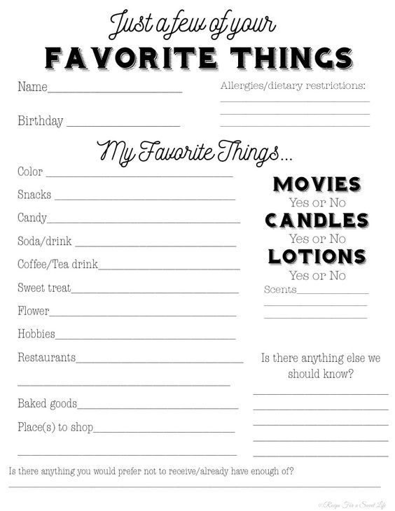 A questionnaire to take the guesswork out of teacher gifts. Print this freebie and give to your child's teacher to know his/her likes and dislikes.