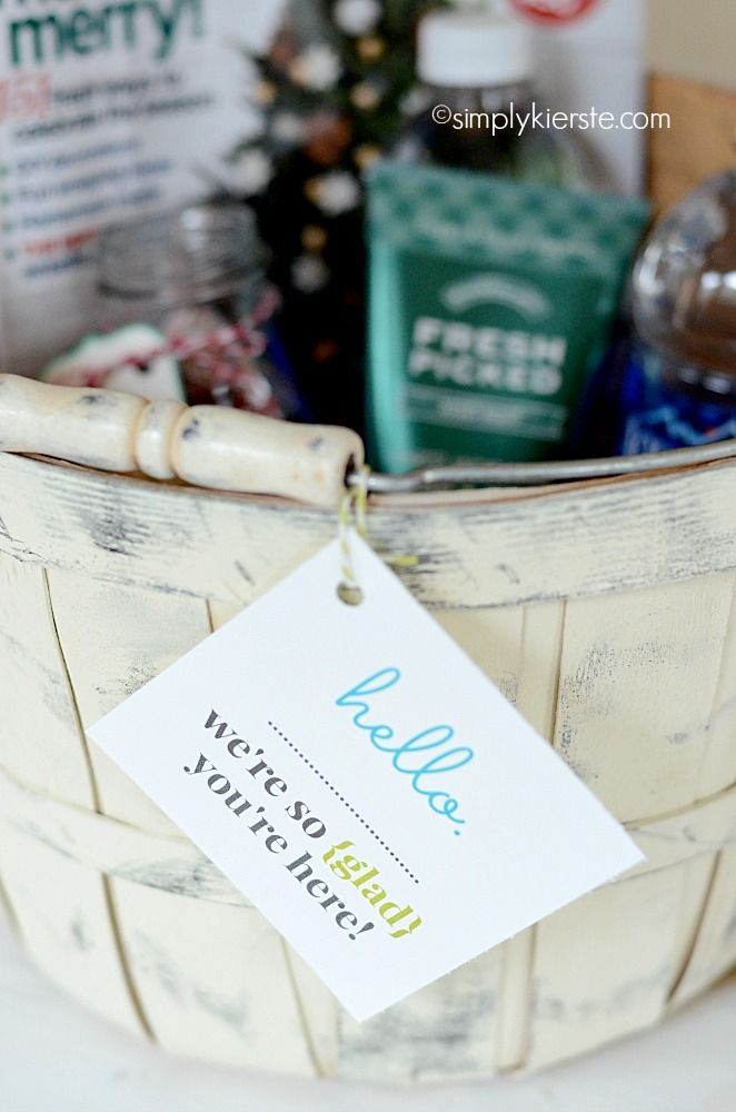 {guest welcome basket} FREE printable included!