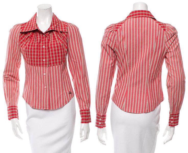Vivienne Westwood Plaid Button-Up Top