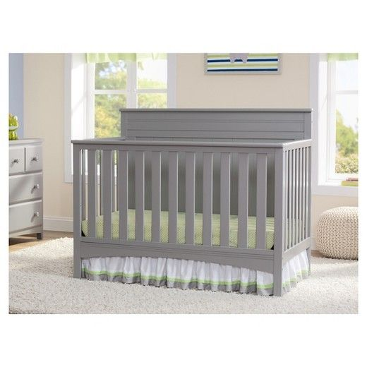 • Adjustable height, converts to a  toddler bed, daybed or full-size bed (conversion rails sold separately)<br>• Durable wood composite and wood frame in non-toxic painted finish <br>• Meets CPSC, ASTM standards and JPMA standards <br>• Dimensions: 34.250 H x 54.250 W x 30.750 D<br>• One-year limited manufacturer warranty<br><br>The Stork Craft Hillcrest Fixed Side 4-in-1 Convertible Crib is the perfect pick for baby's sleep space. Keep her safe and cozy in this...