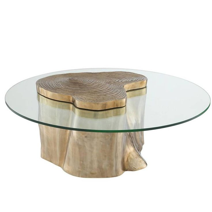 Solid Trunk Coffee Table in Solid Polished Brass Finish 1