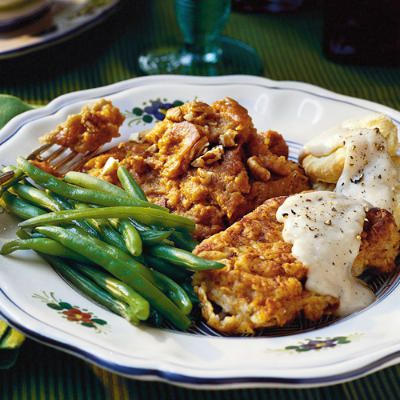 Fried Pork Chops with Gravy - 101 Best Classic Comfort Food Recipes - Southern Living