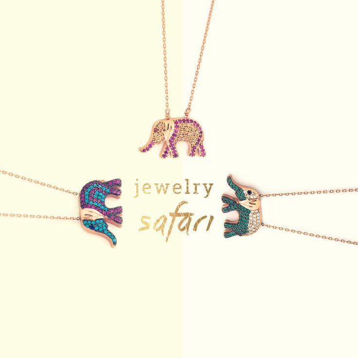 Jewelry Safari #goldenselection #necklace #elephant