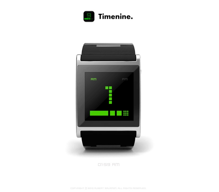 Timenine - watchface app for I'm Watch.