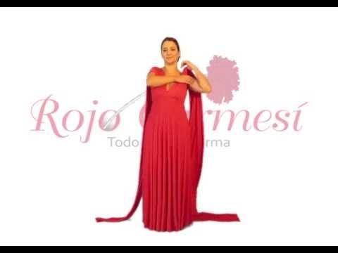 ROJO CARMESI video tutorial #bridesmaid #rojocarmesi #convertibledress www.rojocarmesi.com