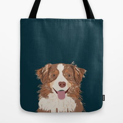 Hollis - Australian Shepherd gifts for dog owners pet lovers dog people gifts for dog person Tote Bag by PetFriendly - $22.00