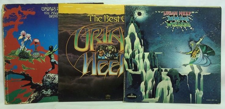 Uriah Heep LP Vinyl Record Lot: Demons and Wizards The Best of Magician's Birthd