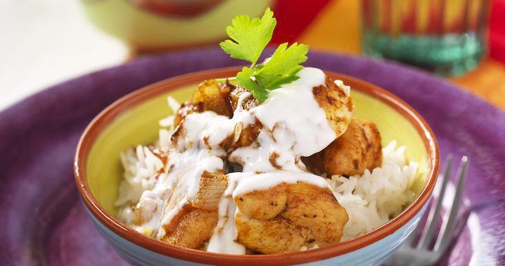 Lättlagad kycklinggryta med indisk kryddning!