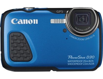 Canon - PowerShot D-30 12.1-Megapixel Waterproof Digital Camera - Blue - Front Zoom