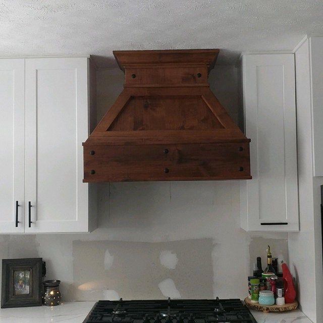 36 Antique Barnwood Vent Hood In 2021 Wooden Vent Hood Vent Hood Kitchen Vent Hood