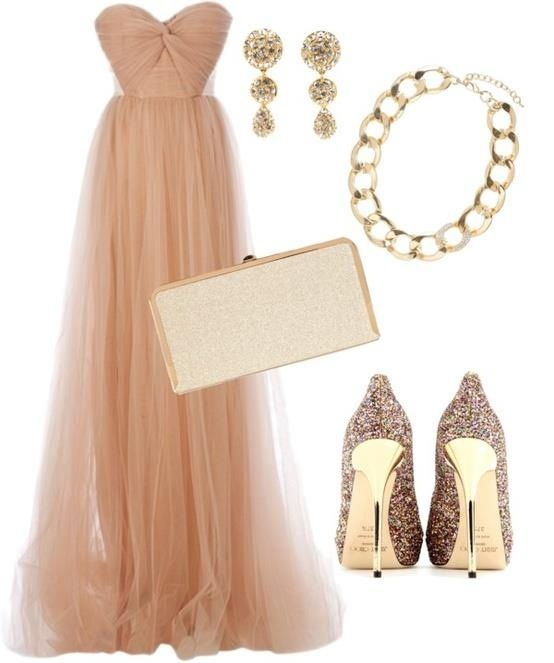 Gown to go to a #wedding #gold #neutral