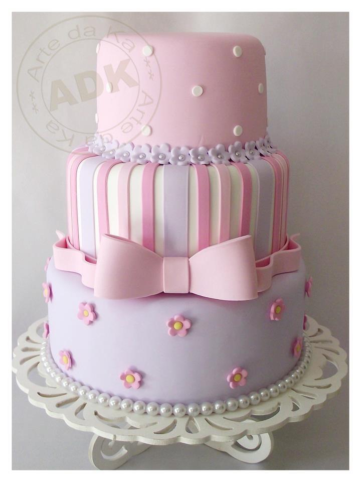 Pink and purple cake - Arte da Ka