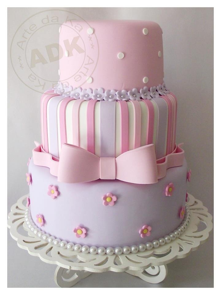 Pink and purple cake - Arte da Ka