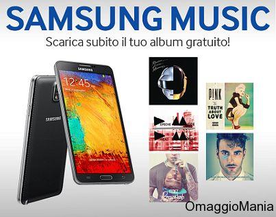 Musica gratis se siete in possesso di uno smartphone Samsung Galaxy.  Album completi di Daft Punk, Pink, Depeche Mode, Marco Mengoni e Fedez.  Link: http://www.omaggiomania.com/musica/musica-gratis-album-completi-con-samsung/