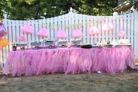 Tutu Table Skirt, Candy Buffet Table Skirt, Tulle Table Skirt