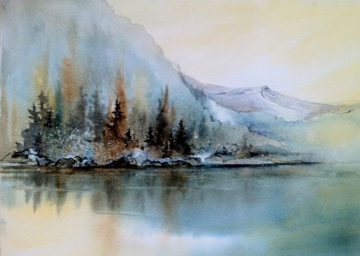 100 akvarellmaler hanna jakobsen 2 art watercolor for Watercolor scenes beginners