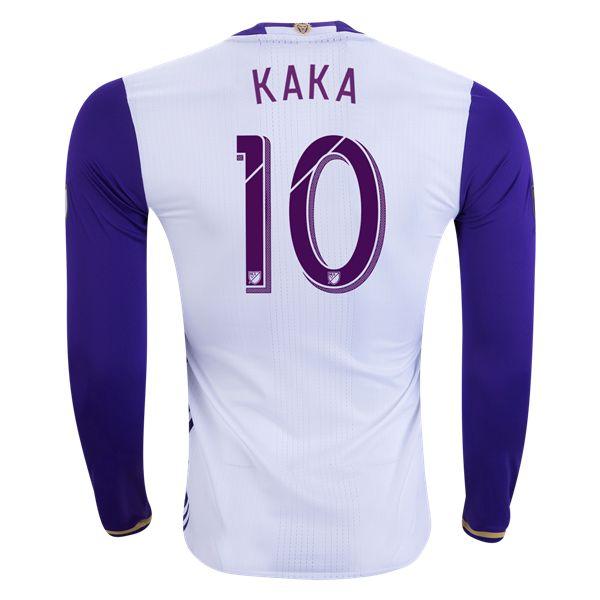 Orlando City SC 2016 KAKA LS Authentic Away Soccer Jersey