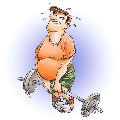Brian Lifting Weights Digi Stamp in Digital images