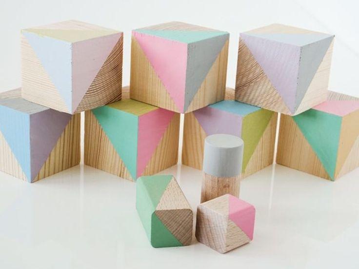 DIY tutorial: Houten blokken in pastelkleuren maken via DaWanda.com