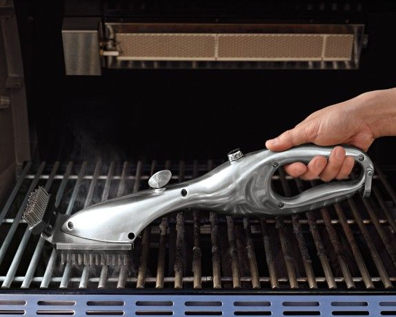 The power of steam sterilizes the grill as it cleans. | Williams-Sonoma