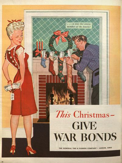 The kids are gonna be SO EXCITED to find these war bonds in their stockings!  Wink wink