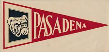 Pasadena Junior College Bulldogs vtg _ORIG_ 1930s Decal Sticker City Community