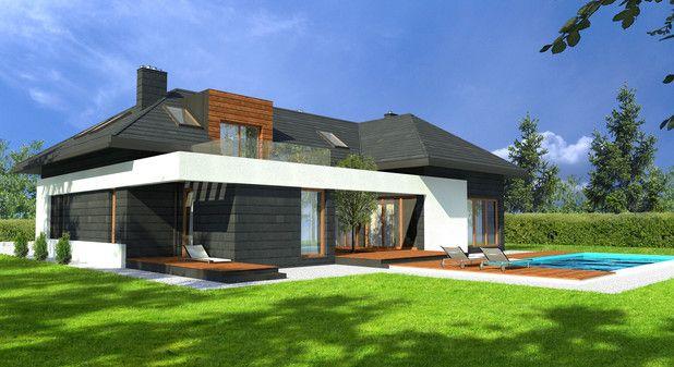 Projekt TKE-364 wyróżnia się wyjątkową bryłą oraz oryginalną elewacją. Budynek, przykryty wielospadowym dachem, czaruje wieloma interesującymi rozwiązaniami – między innymi wciętym w bryłę budowli tarasem oraz przeszklonym balkonem na poddaszu. Budynek przykuwa uwagę swoją modernistyczną elegancją i doskonale skomponowanymi materiałami wykończeniowymi.