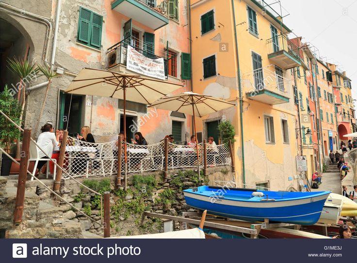 Enoteca Restaurant Dau Cila, Riomaggiore, Cinque Terre, Liguria Stock Photo…
