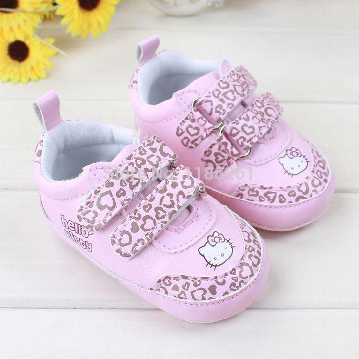 Toddler bebek hello kitty ayakkabı bebek ayakkabıları bahar Toddler mokasen ayakkabı yeni doğan bebeğin ilk yürüyüşe bebek ayakkabıları 0~18months(China (Mainland))