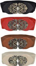 "Women's Fashion Vintage Wide Elastic Stretch Waist Belt Waistband ""Length: approx. 58cm. Width: approx. 6._.5cm"""