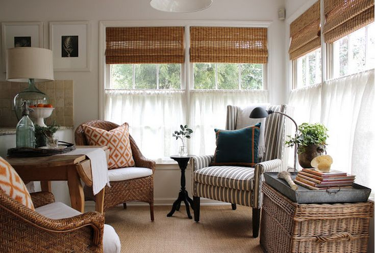 Best 25 sunroom blinds ideas on pinterest woven blinds for Best place for window treatments