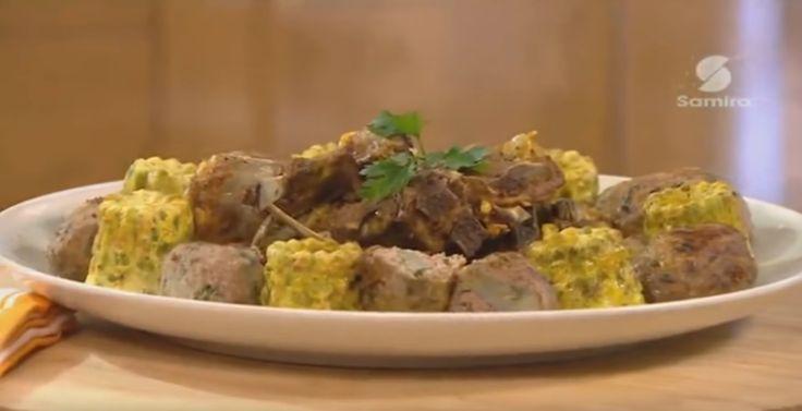 Tajine d'agneau aux petits pois et à la viande hachée farcie, Lamset Chahrazad