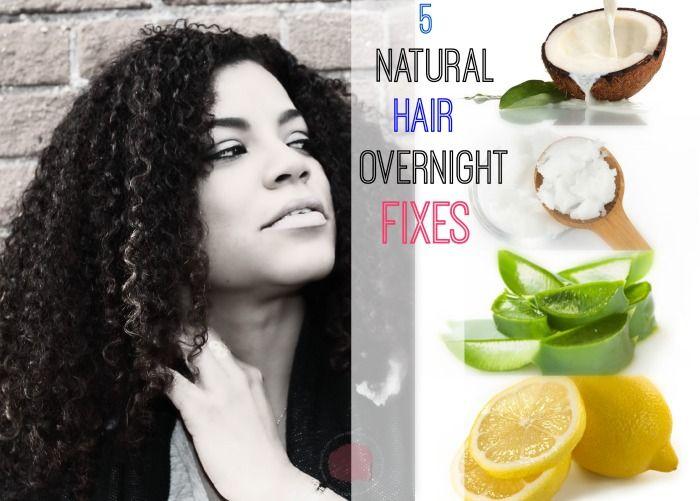 5 Natural Hair overnight fixes  Restora tus rizos de la noche a la mañana.