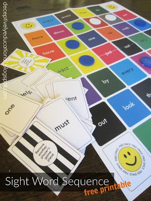 Free Sight Word Sequence Game