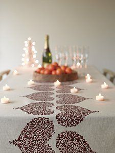 table runners made with rubber stamps would be great