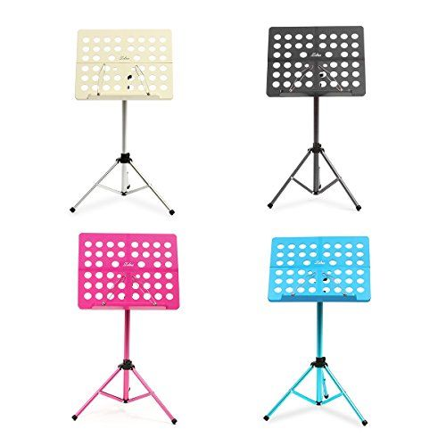 Zebra Portable Sheet Music Stand MS-07 Universal Tripod with Carrying Bag - Adjustable Folding Paper Holder - Aluminum Alloy Music Rack - 5kg Bearing Support, 4 Colors Aluminium alloy shelf with ABS surface, rustless and durable 1.5mm holder pipe thickness, endows the music rack a big bearing capacity Portable folding size, allow taking around https://hobbiesandcrafts.boutiquecloset.com/product/zebra-portable-sheet-music-stand-ms-07-universal-tripod-with-carrying-bag-adjustab