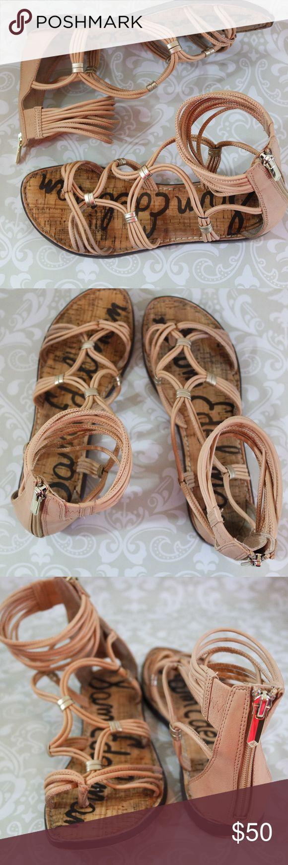 Sam Edelman Gladiator Sandals Size 8M Excellent pre-loved condition tan gladiator sandals.  Size 8M.  Cork and leather. Sam Edelman Shoes Sandals
