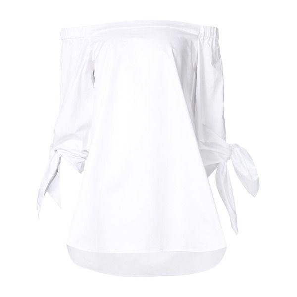 Tibi Schulterfreie Bluse mit Knotendetails