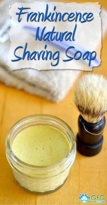 Frankincense Natural Homemade Shaving Soap Recipe