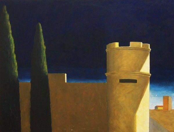La garita, Óleo sobre lienzo. Fernando Puente.